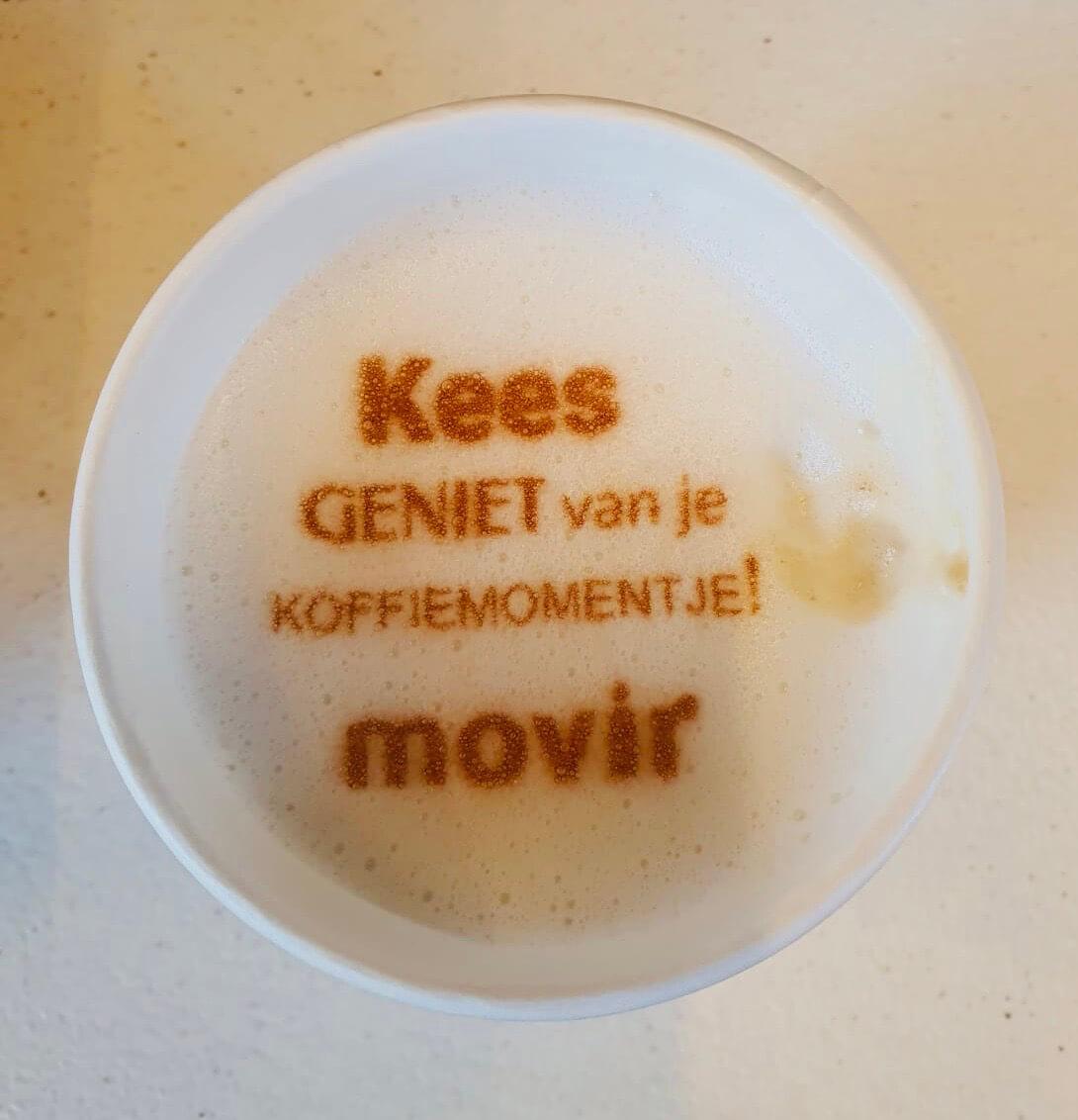 Tekst op koffie