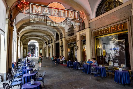 Koffie drinken in Turijn.