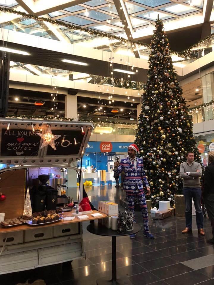 koffie kerst winkelcentrum